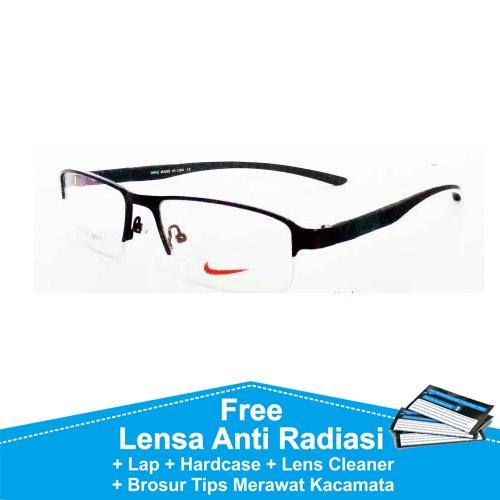 Frame kacamata minus anti radiasi sporty nike 7147 coklat kaca mata 237c7e6377