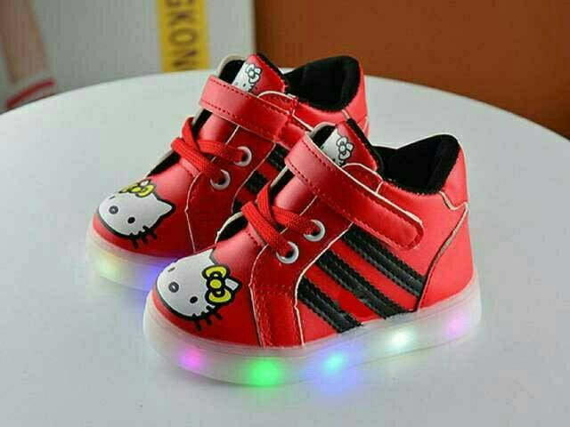 harga Sepatu boots led import anak motif hello kitty merah dengan lampu Tokopedia.com