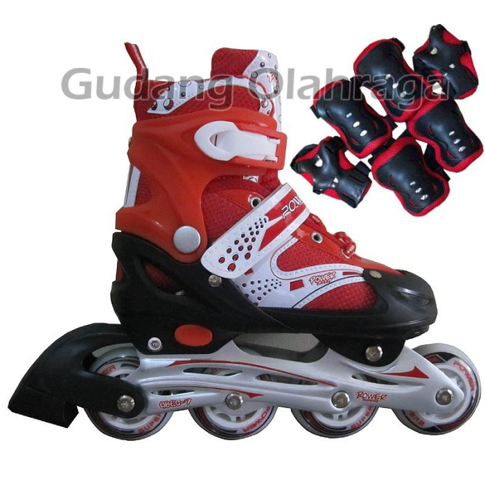 Jual Sepatu Roda BAJAJ + Deker   Pelindung Inline Skate Satu Set ... ae5b42c39e