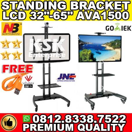 harga Multi functional mobile tv cart nb ava1500-60-1p bracket tv roda Tokopedia.com