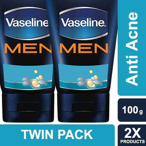 harga Vaseline men face wash anti acne 100 g twin pack Tokopedia.com