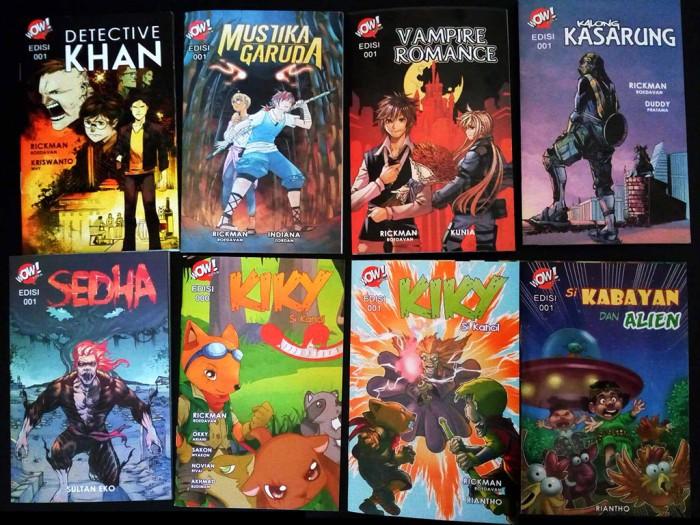 Foto Produk Paket 8 Judul Buku Komik WOW Berwarna Cerita Anak & Remaja dari Tutorial Multimedia