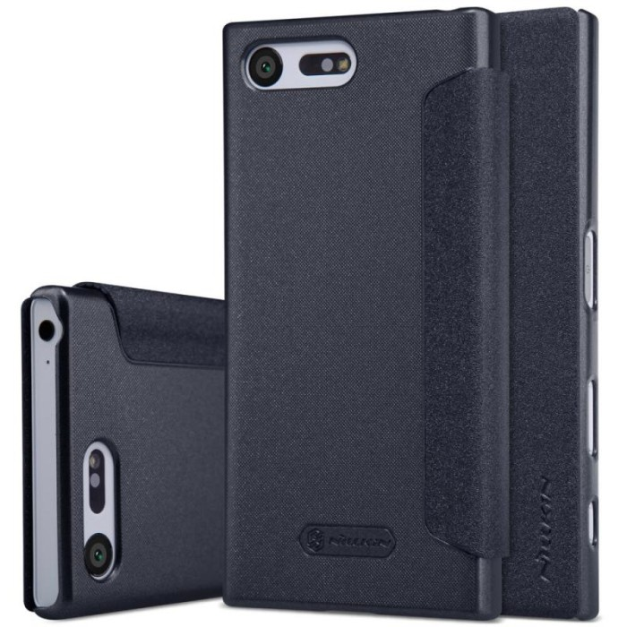 Nillkin Sparkle Series New Leather case Sony Xperia X Compact - Hitam