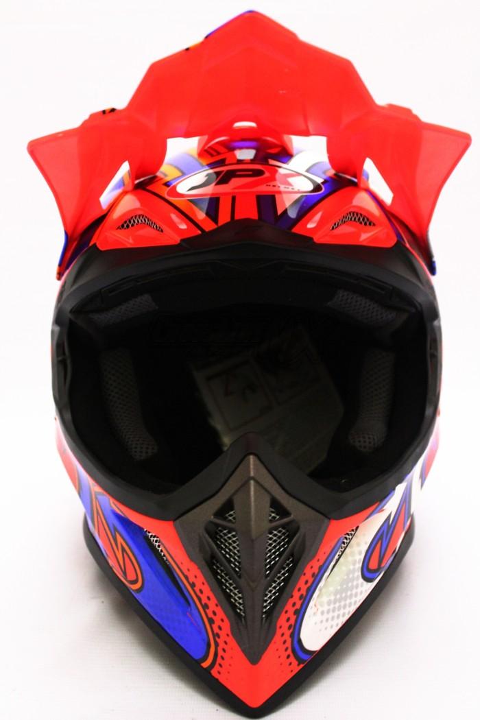 HELM CROSS JPX MODEL AIROH MOTOCROSS RED BLUE WHITE 1