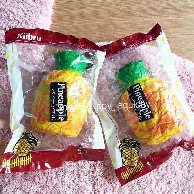 Pineapple squishy by kiibru (squishy nanas super slow & soft areedy)