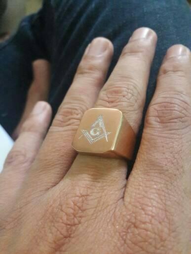 harga Cincin pria titanium ring fremason rose gold cincin emas masonic Tokopedia.com