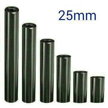harga M3 aluminum standoff m3 alloy stand off spacer 25mm black hitam 10pcs Tokopedia.com