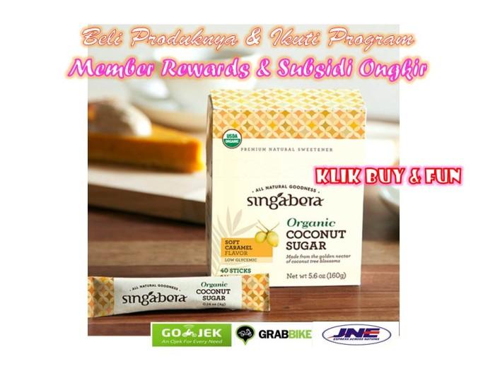 harga Singabera organic coconut sugar 40 sachet - gula kelapa organik Tokopedia.com