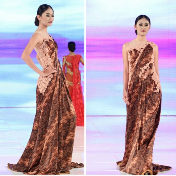 Jual Batik Pesta Long Dress Longdress Gaun Pesta Batik Katun