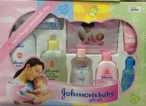 Johnsons kado bayi baby gift set bedak sabun oil cd pijat bayi washlap