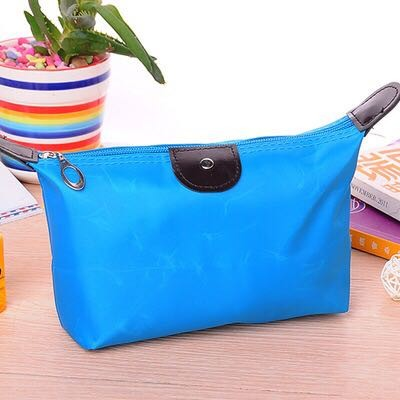 Tas Kosmetik Alat Make Up Accesories Travel Organizer Bag Pouch Dompet - Biru Muda