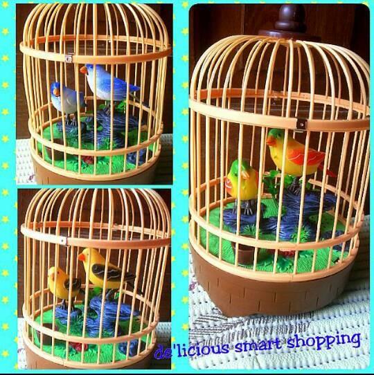 harga Mainan burung bernyanyi dalam sangkar Tokopedia.com