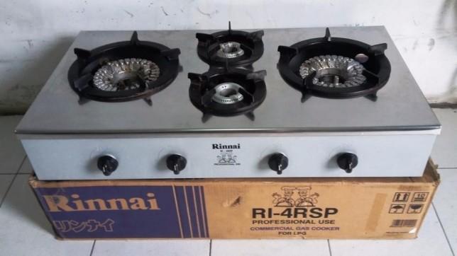 Kompor Gas 4 Tungku Rinnai Ri 4rsp