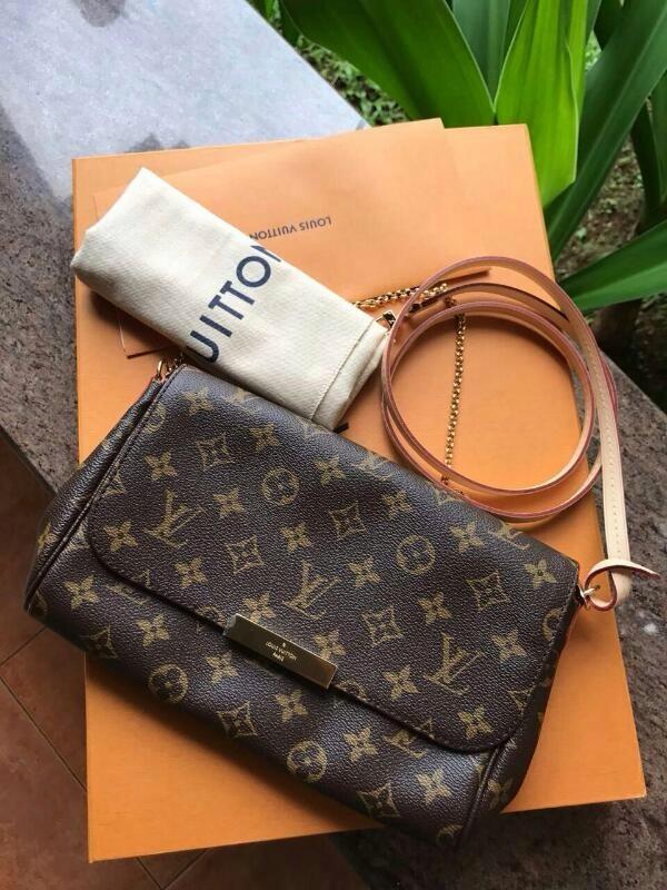 f3e9dc02d2ac Tas LV Louis Vuitton Favorite MM Monogram Asli   Ori   Authentic