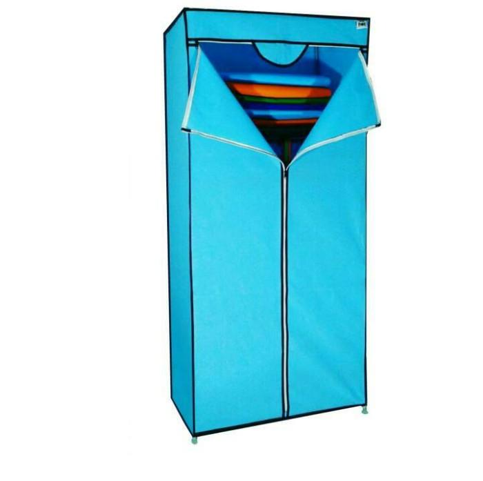 Multifungsi wardrobe/rak lemari pakaian/tempat baju/nbx - sw biru muda