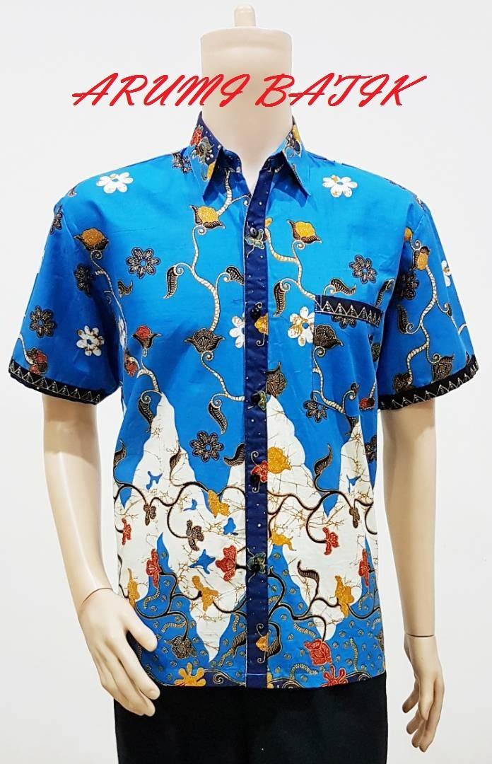 Kemeja / hem / atasan / baju / seragam pria batik 1936 biru