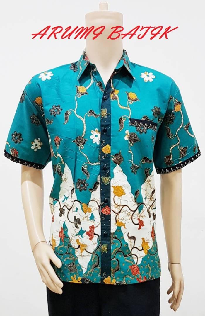 Kemeja / hem / atasan / baju / seragam pria batik 1936 tosca big size