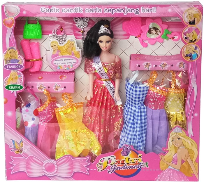 Jual Set Barbie Doll Putri Indonesia Boneka Mainan Anak Perempuan ... c6fb046944