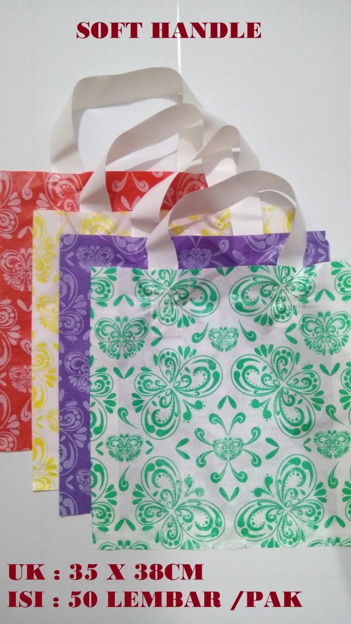 Kantong plastik soft handle batik - shopping bag motif ukuran 35 x 38
