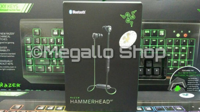 6817edb6712 Jual Razer Hammerhead BT Bluetooth - Hitam - DKI Jakarta - Megallo ...
