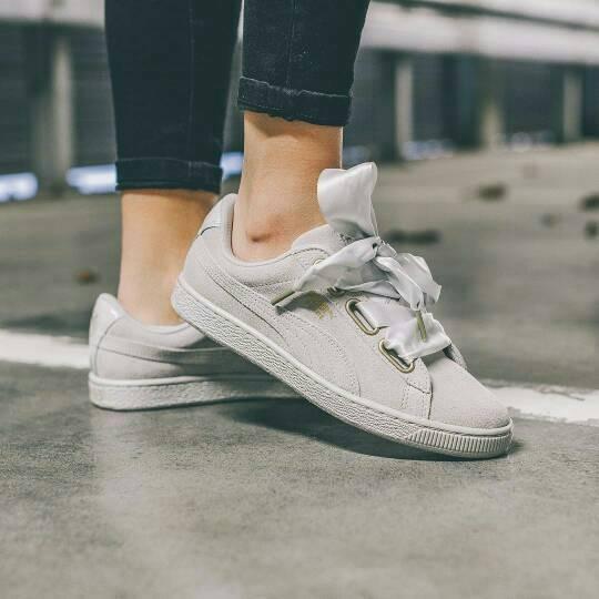 Jual Puma Basket Heart Suede Grey Sepatu Jalan Wanita PREMIUM - Jakarta  Utara - Damari | Tokopedia