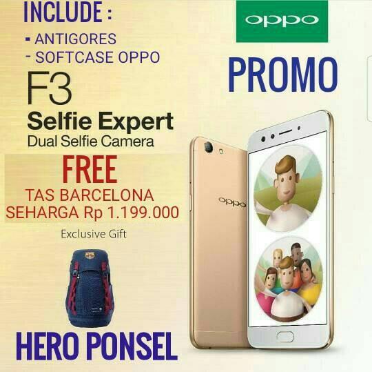 harga Oppo f3 ( paket tas barcelona ) garansi resmi oppo Tokopedia.com