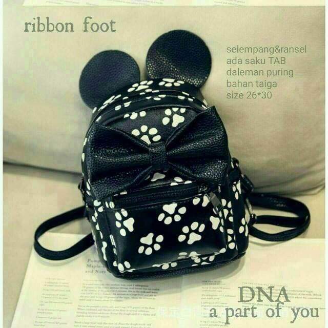Foto Produk btas fashion wanita murah backpack ribbon foot grosir tas ransel dari Then4Shop