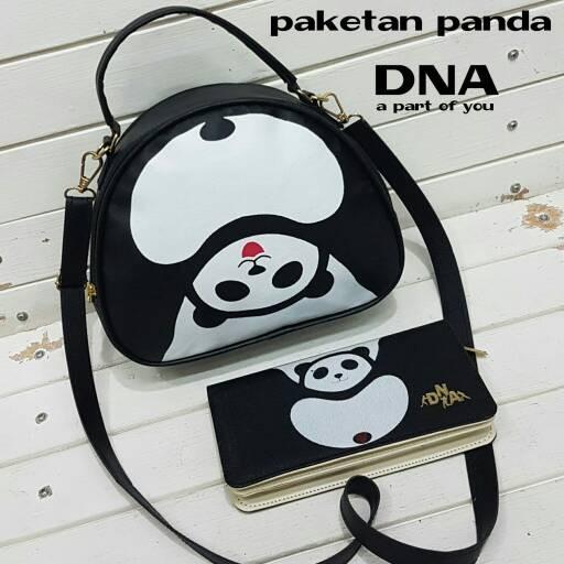Foto Produk tas fashion wanita murah paket panda tas+dompet grosir turun harga dari Then4Shop