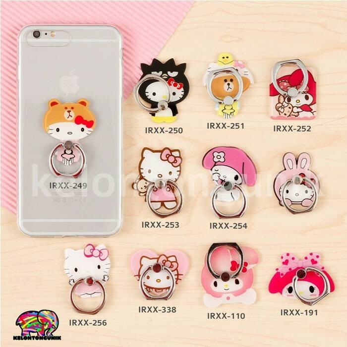 afc27cb1a Jual Hello Kitty IRing/ Ring Holder/ Cincin HP / Ring Stand Karakter ...