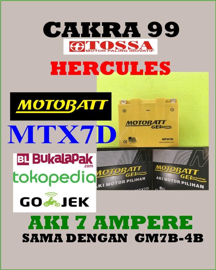 harga Aki gel kering tossa hercules motobatt mtx7d /gm7b-4b gs yuasa Tokopedia.com