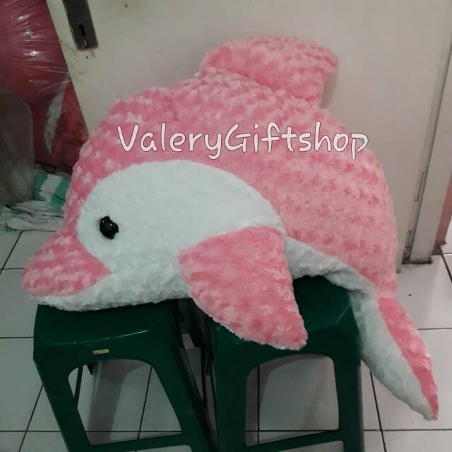 harga Boneka anak binatang ikan dolphin jumbo pink / biru / ungu Tokopedia.com