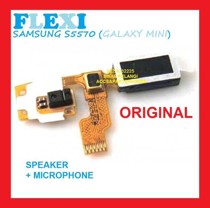 harga S5570 galaxy mini samsung flexi flexible speaker microphone 702083 Tokopedia.com