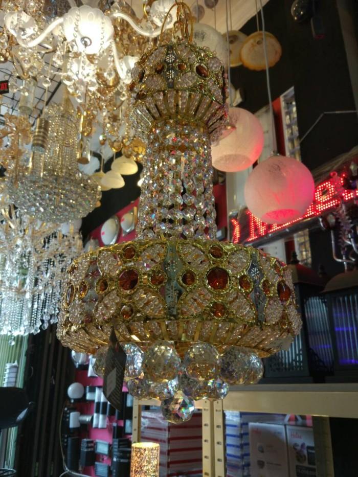 harga 96019/300 lampu gantung kristal asli - gold Tokopedia.com