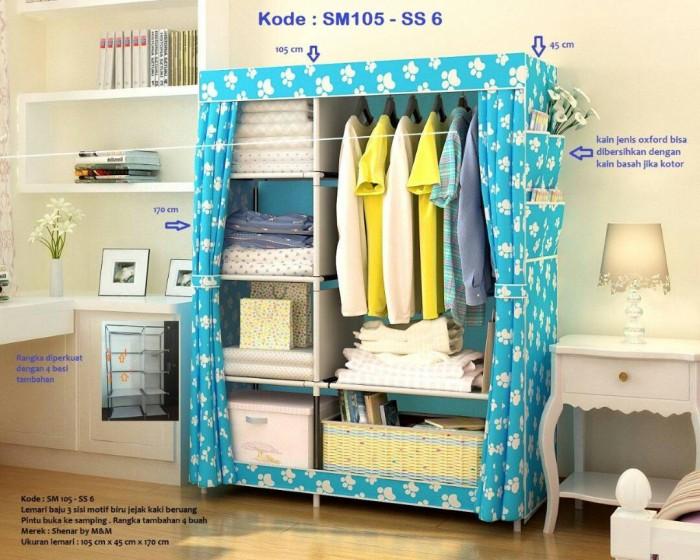 Jual kain oxford lemari 3 sisi ukuran 105cmx45cmx170cm buka samping Source · Lemari pakaian murah Kain
