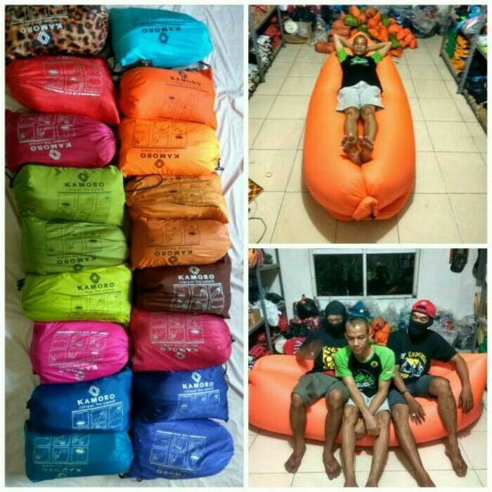harga Air bed / lazy bag / lamzac merk kamoro Tokopedia.com