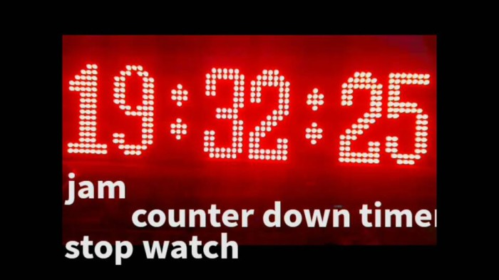 harga Jam display timer countdown stopwatch Tokopedia.com