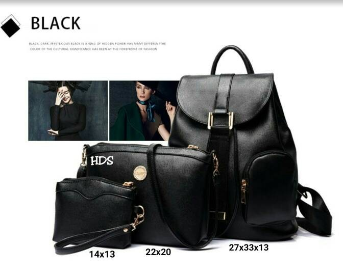 Foto Produk Tas fashion wanita murah backpack fashion 3in1 grosir tas ransel dari Then4Shop