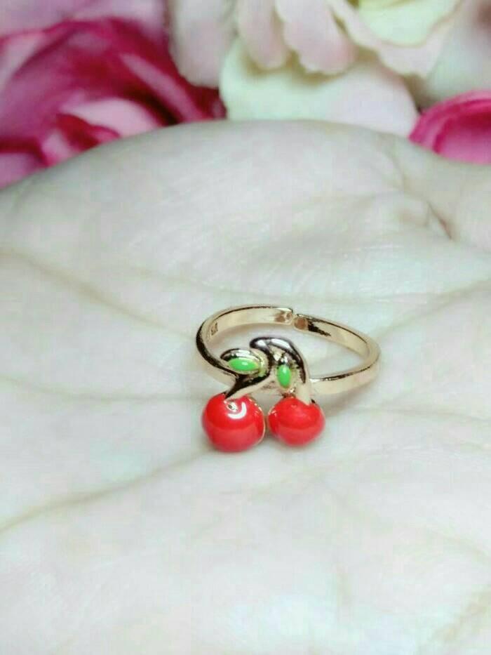 cincin Cherry anak ( xuping perhiasan lapis emas )