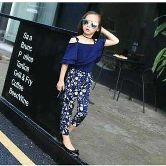 Baju Anak Import | Setelan Anak Sabrina Navy Pant Girl