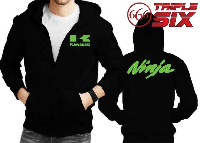 harga Jaket hoodie zipper kawasaki ninja - banyak warna Tokopedia.com