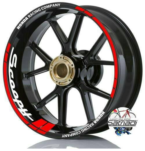 harga Sticker velg stiker motor scoopy honda racing company Tokopedia.com