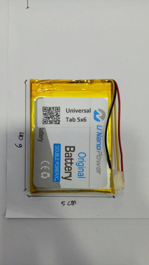 harga Baterai nano power universal tab / handphone (5x6) Tokopedia.com