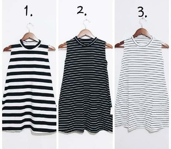 harga Turtleneck stripe dress Tokopedia.com