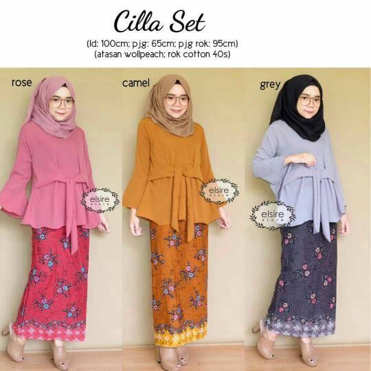 Jual Baju Blouse Polos Muslim Modern Wanita Rok Batik Solo Cilla Xl Kota Surakarta Hijabmodern Aluna Tokopedia