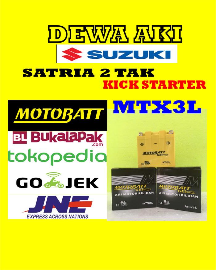 harga Aki gel kering motor suzuki satria 2 tak kick starter motobatt mtx3l Tokopedia.com