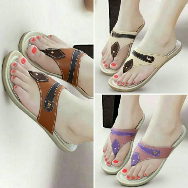 harga Sandal wanita casual jepit mulan 1143 Tokopedia.com