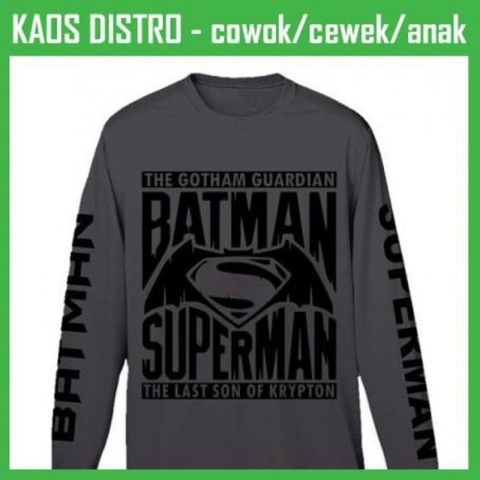 harga Kaos sablon batman vs superman lengan panjang 2 sas04 oblong distro Tokopedia.com