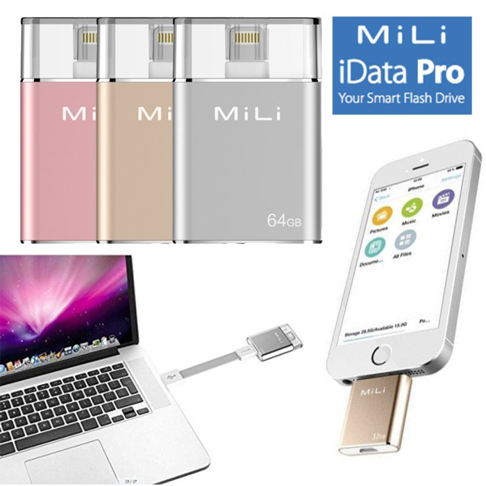 harga Mfi certified mili usb otg apple android 64gb flashdisk flash drive 64 Tokopedia.com