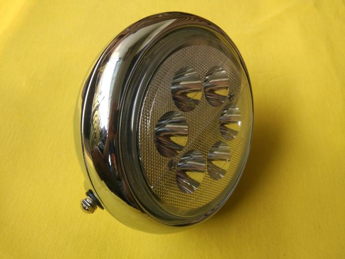 harga Reflektor headlamp head lamp lampu depan bulat led chrome vixion cb Tokopedia.com