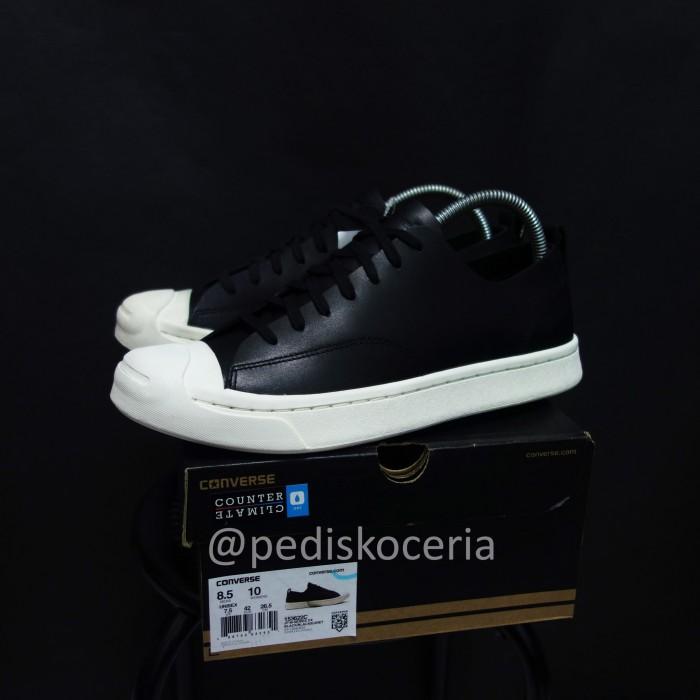 17e46b07ff4f Jual Converse Jack Purcell M-Series Alpine Leather Black White ...